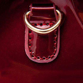 Trendy Buckle and Chain Design Women's Crossbody Bag -  RED