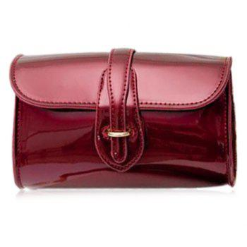Trendy Buckle and Chain Design Women's Crossbody Bag - RED RED