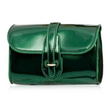 Trendy Buckle and Chain Design Women's Crossbody Bag - GREEN GREEN