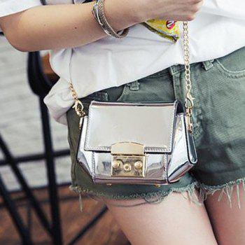Fashion Chain and Solid Colour Design Women's Crossbody Bag