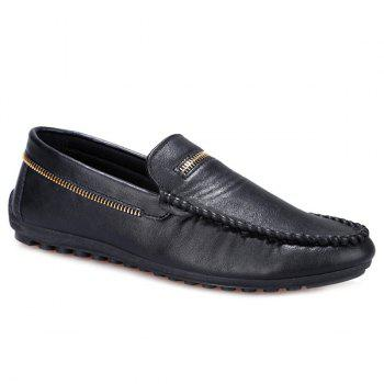 Stylish Zipper and Stitching Design Men's Casual Shoes