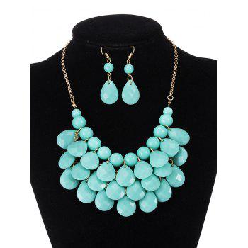 Water Drop Statement Necklace and Earrings