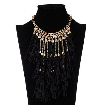 Retro Tassel Ropes Necklace - BLACK