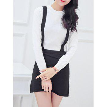 Oversized Sweet Hit Color Faux Twinset Knitted Pencil Dress
