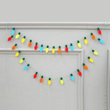 Creative Birthday Christmas Party Supplies Colorful Felt Bulb - COLORFUL