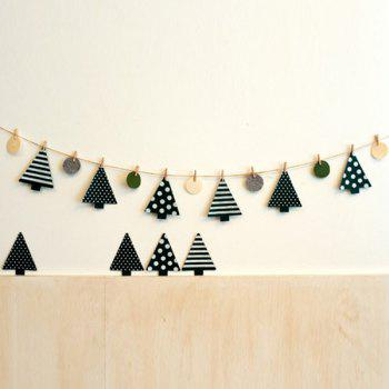 Fashional Festival Wall Decor Christmas Tree Clamp Party Supplies - WHITE AND GREEN WHITE/GREEN