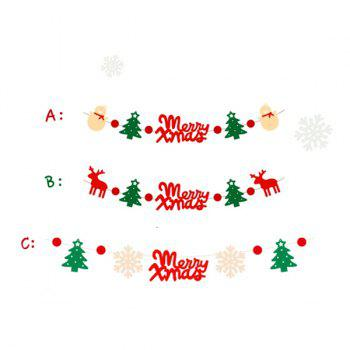 Cute Festival Decor Christmas Tree Deer Letter Hanging Party Supplies Set