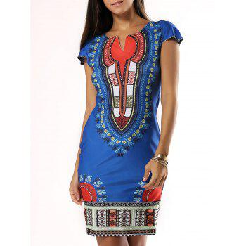 Exotic Tribal Pattern Mini African Dress