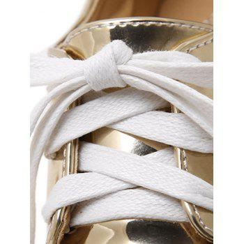 Fashion Square Toe and Star Pattern Design Women's Wedge Shoes - GOLDEN GOLDEN