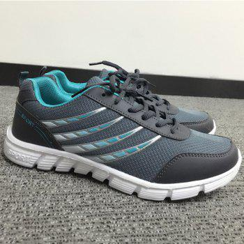 Trendy Hit Colour and Breathable Design Men's Athletic Shoes - DEEP GRAY DEEP GRAY