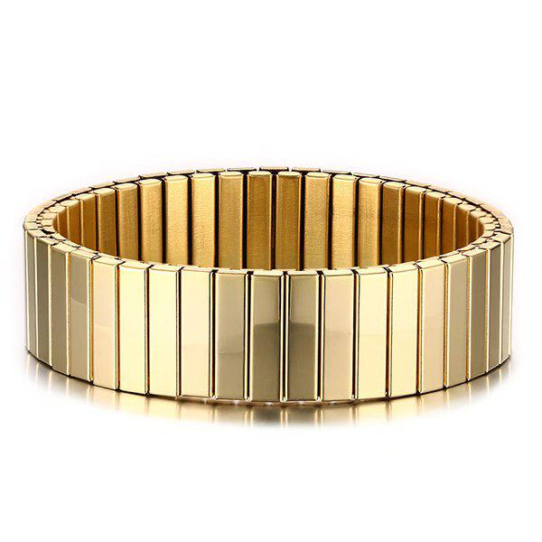 Burnished Alloy Round Bracelet - GOLDEN