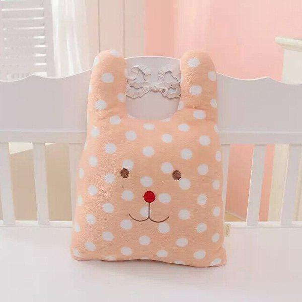 Comfortable Cartoon Wave Point Rabbit Cushion Decorative Pillow - PINK