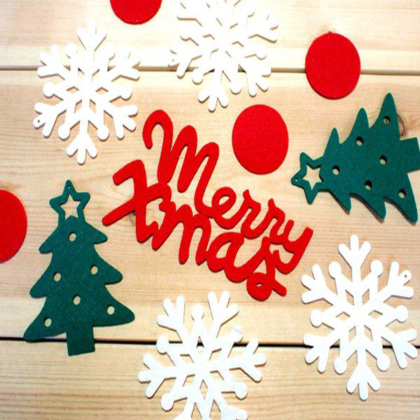 Stylish Festival Decor Christmas Tree Snowflake Letter Hanging Party Supplies - COLORFUL