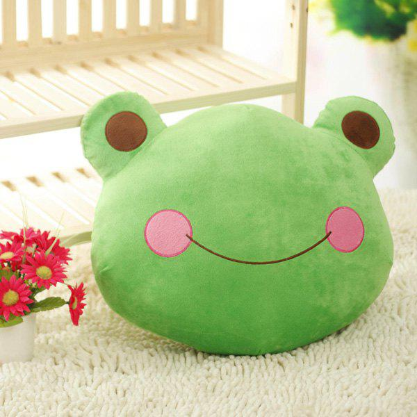 Soft Cute Cartoon Frog Prince Cushion Decorative Pillow - GREEN