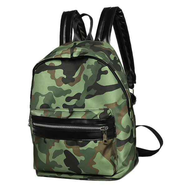 Stylish Splicing and Camouflage Pattern Design Women's Backpack - CAMOUFLAGE