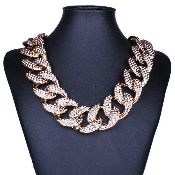 Punk Etched Cuban Chain Statement Necklace For Women