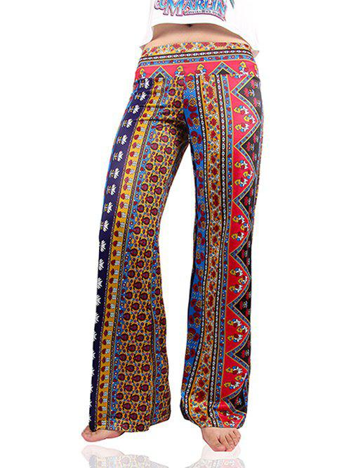 Vintage Women's Tribal Print Loose Exumas Pants - COLORMIX 2XL