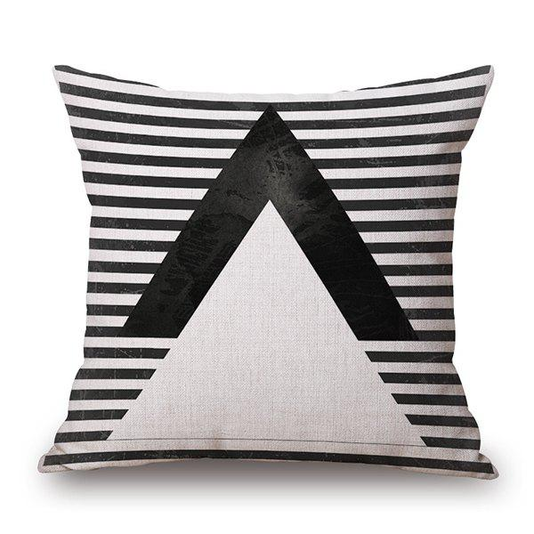 Creative Black and White Stripe Geometry Pattern Sofa Pillow Case