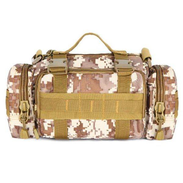Fashionable Double Pocket and Digital Pattern Design Men's Messenger Bag - MARPAT DESERT