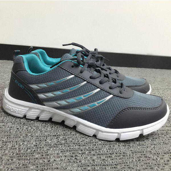 Trendy Hit Colour and Breathable Design Men's Athletic Shoes - DEEP GRAY 40