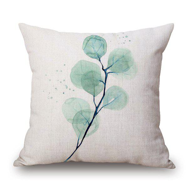 2018 Tree Branch Pattern Decorative Cover Pillow Case White In