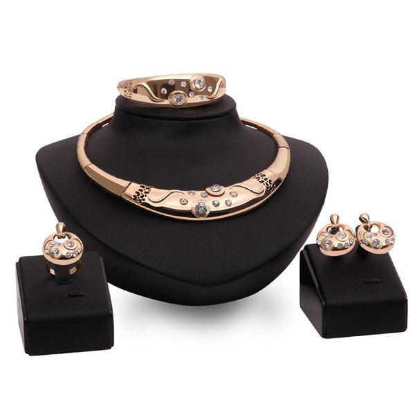 Heart Wedding Jewelry Set For Women - GOLDEN ONE-SIZE