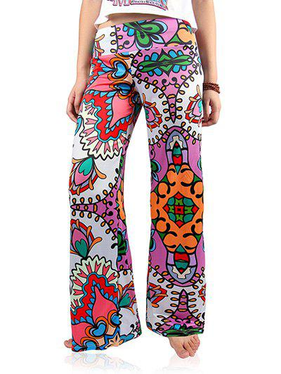 Trendy Women's Floral Print Loose-Fitting Exumas Pants - COLORMIX 2XL