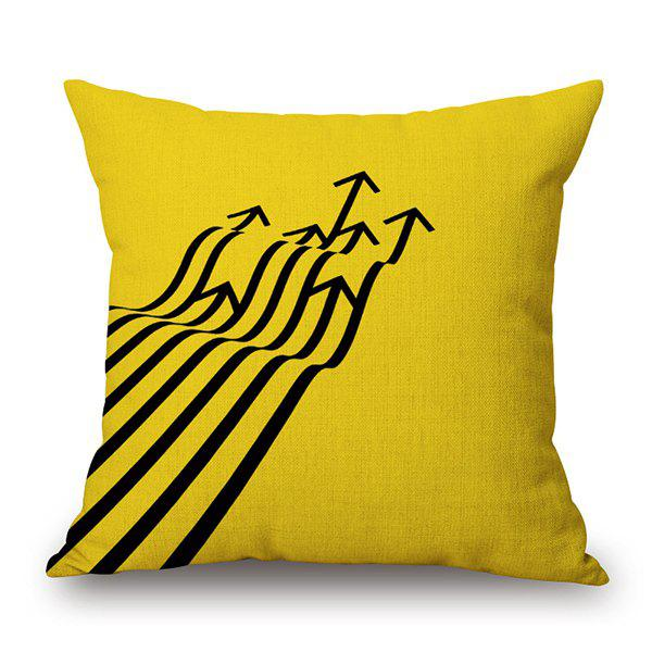Irregular Arrow Print Home Decorative Pillow Case - YELLOW