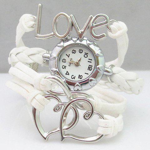 Love Heart Hollow Out Infinity Bracelet Watch love heart hollow out bracelet watch
