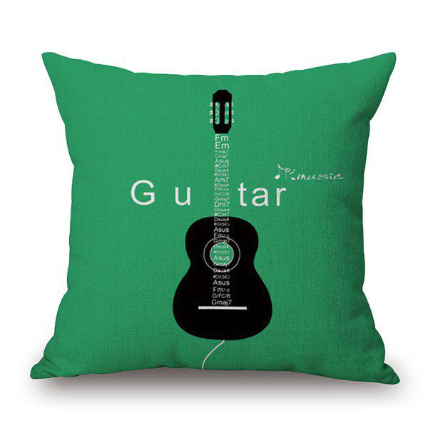 Guitar Pattern Decorative Throw Cover Pillow Case merry christmas grass cushion throw pillow case