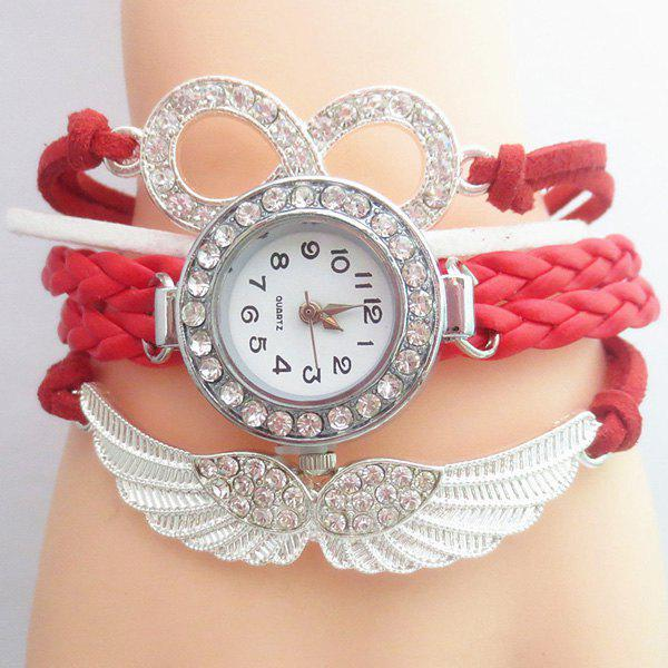 Rhinestoned Infinity Angel Wings Bracelet Watch от Dresslily.com INT