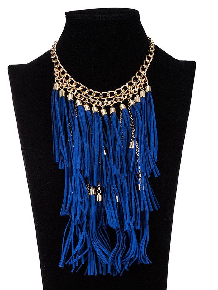 Retro Tassel Ropes Necklace - BLUE