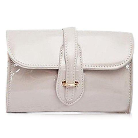 Trendy Buckle and Chain Design Women's Crossbody Bag