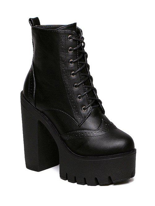 Fashionable Black and Zipper Design Women's Short Boots
