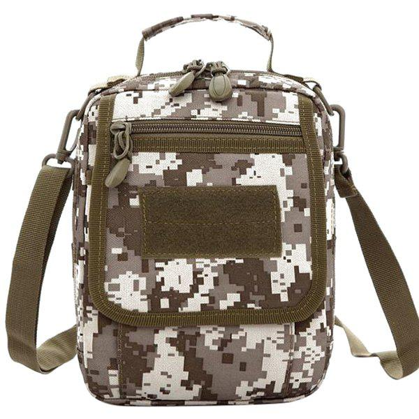 Trendy Camouflage Pattern and Canvas Design Women's Satchel
