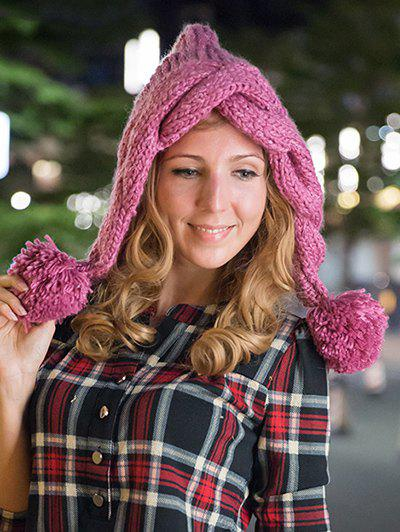 Stylish Ball Embellished Knitted Hat