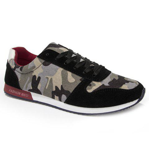 Chaussures Trendy Splicing et Camouflage Design Pattern Men  's - Noir 40