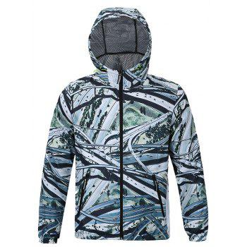 Aerial View of Roads Print Hooded Long Sleeves Jacket For Men