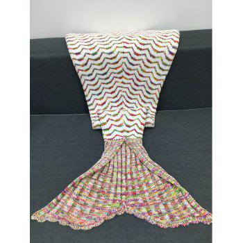 Chic Quality Colorful Curves Pattern Knitting Mermaid Shape Blanket