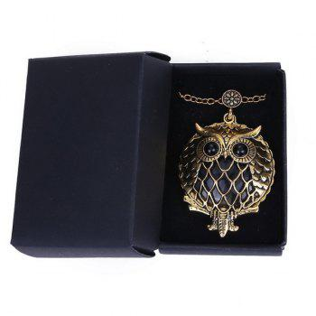 Box Owl Magnifying Glass Sweater Chain - COPPER COLOR