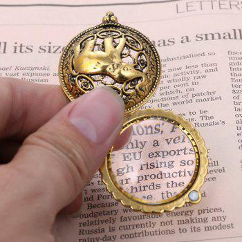 Filigree Elephant Magnifying Glass Sweater Chain - COPPER COLOR