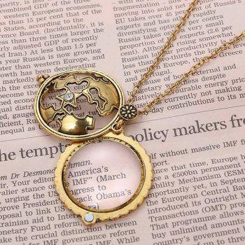 Cut Out Magnifying Glass Pendant Sweater Chain -  COPPER COLOR