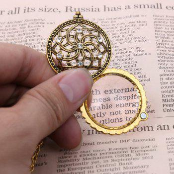 Vintage Rhinestone Floral Magnifying Glass Sweater Chain -  COPPER COLOR