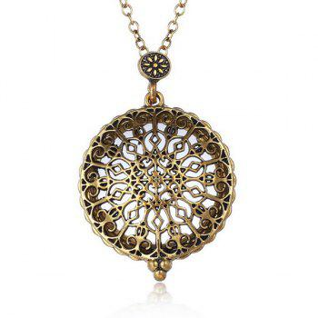 Magnifying Glass Round Filigree Sweater Chain