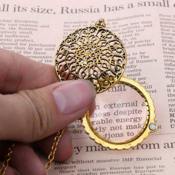 Magnifying Glass Round Filigree Sweater Chain - COPPER COLOR
