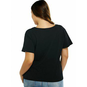 Plus Size Cut Out T-shirt noir - Noir 2XL