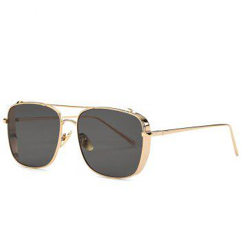 Retro Style Metal Frame Rectangle Sunglasses For Women