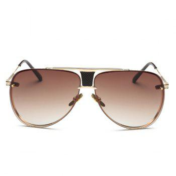 Fashion Frameless Pilot Ombre Sunglasses For Women - TEA COLORED