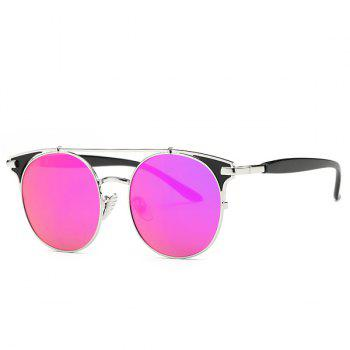 Fashion Crossbar Cat Eye Mirrored Sunglasses For Women