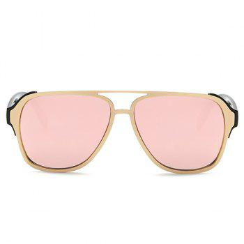 Fashion Cut Out Pink Pilot Mirrored Sunglasses For Women - PINK